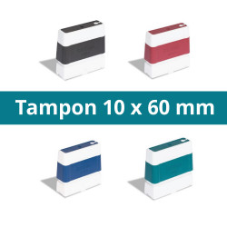Tampon 10 x 60 mm personnalisable