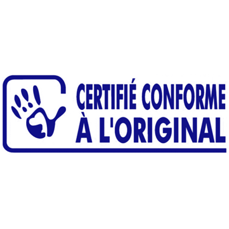Tampon Certifié Conforme à l'Original