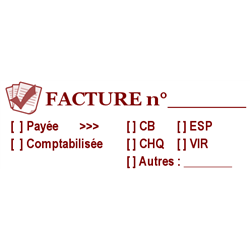 Tampon Infos Facture