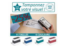 -25% de réduction sur votre tampon personnalisé jusqu'à la fin 2020